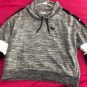 Crew Neck Sweatshirt - Grey | White | Black